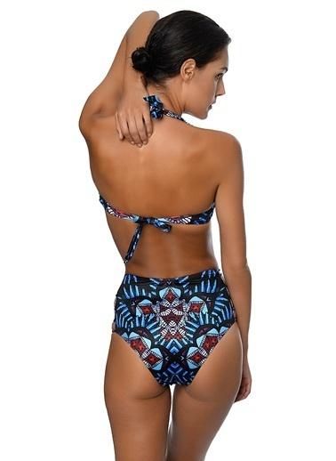 Movom Yüksek Bel Bikini Mavi